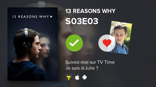 I've just watched episode S03E03 of 13 Reasons Why! #13ReasonsWhy  #tvtime https://t.co/QulV5jFtFV https://t.co/MCpnr2L6w3