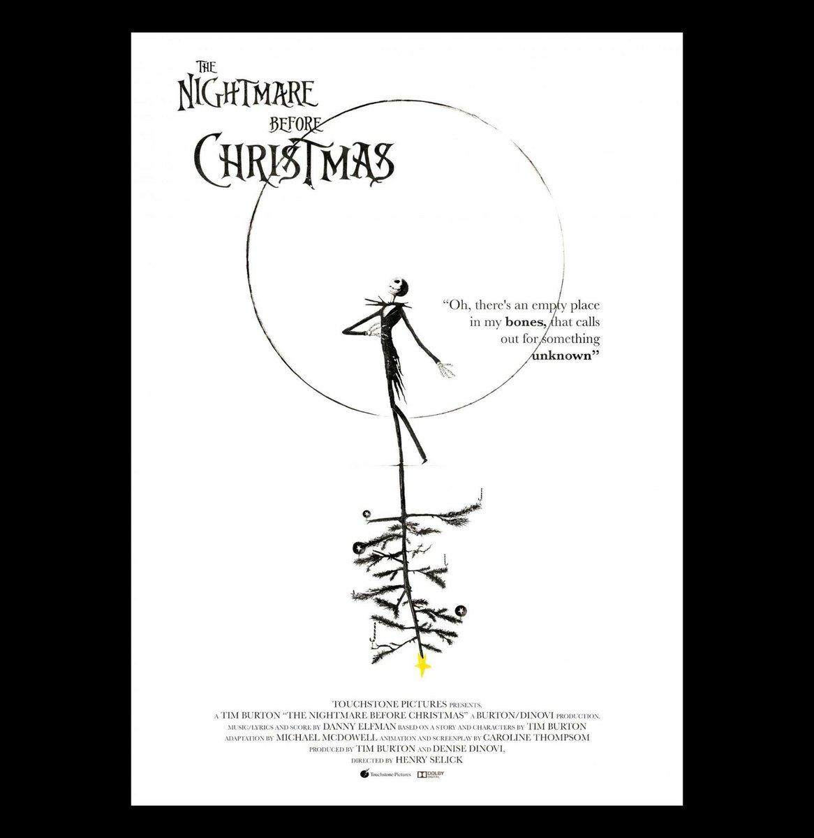 My alt. poster for The Nightmare Before Christmas #timburton #thenightmarebeforechristmas #movieposter #posterdesign #alternativemovieposterpic.twitter.com/UCdOveJ8Mp