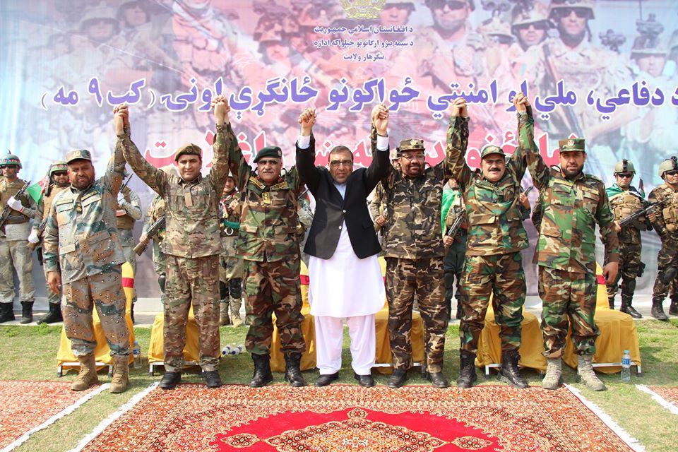 د ننګرهار ولایت په مرکز جلا ل اباد ښار شيرزي لوبغالي کې د دفاعي،ملي او امنیتي ځواکونو ملي ورځ، د یوې پراخې او شاندارې غونډې په ترڅ کې ونمانځل شوه.  #AfghanNationalForcesDay #AfghanVeteransDay #Peace #Nangarhar #Afghanistan pic.twitter.com/JXRVMwNXZL