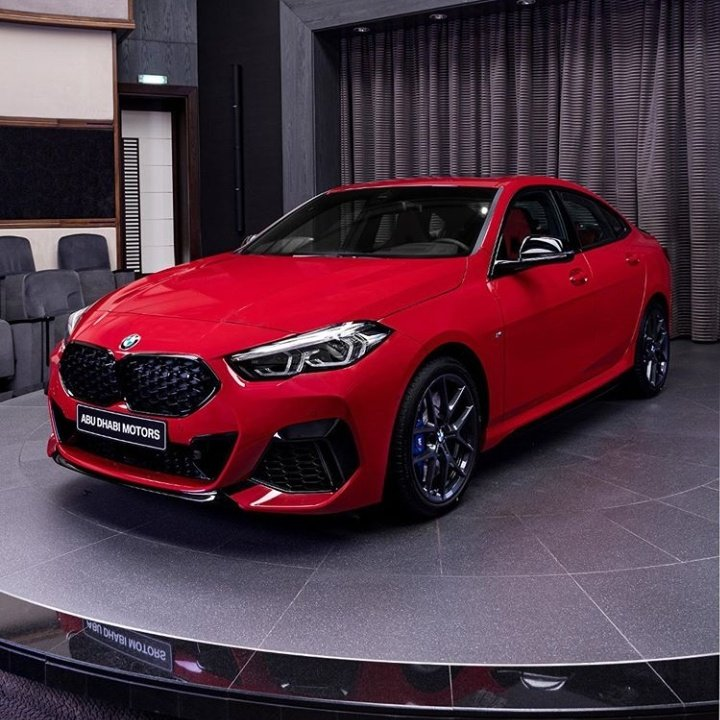 Presenting the BMW M235i xDrive in the prettiest colour I have ever seen on any car, Melbourne Red  3.0 litre Twin-power turbopetrol 6-cylinder 306 hp (225 kW) & 450 Nm of torque 0-100 km/h in 4.8 seconds  Photos Via: IG. abudhabimotors #GCR<br>http://pic.twitter.com/VStjAdw8De