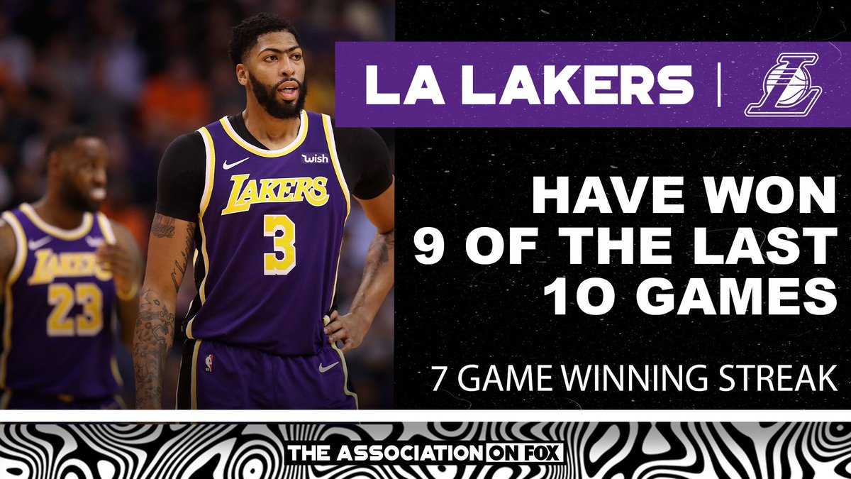 Replying to @TheAssociation: AD helps lead the Lebron-less Lakers to another win #LakeShow