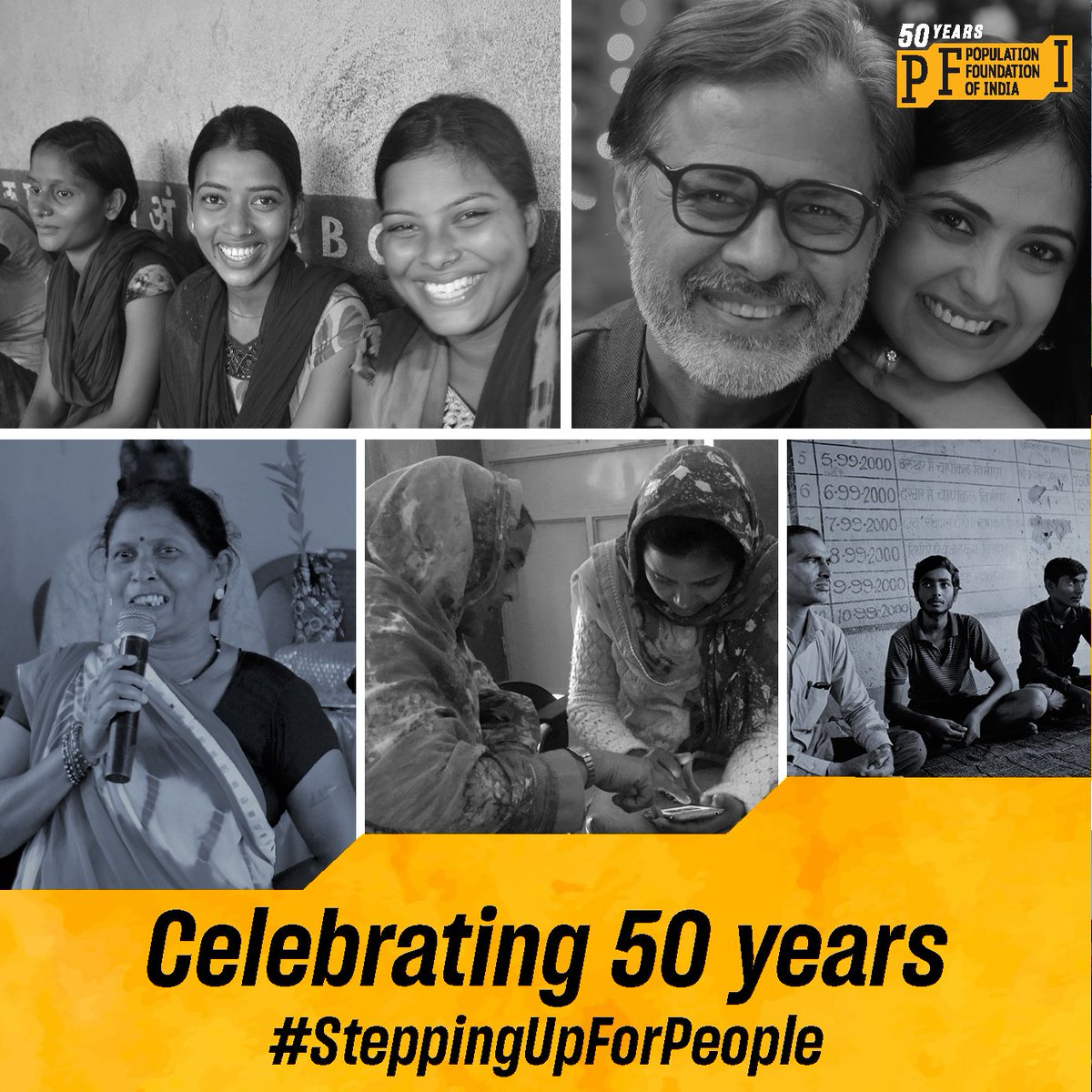Proud to share, @PopFoundIndia has turned 50 years. It could not have been possible without the amazing contribution of our partners & our entire team of PFI. Here's to achieving many more milestones together and #SteppingUpForPeople #ThankYou #GoldenJubilee @Letstransform