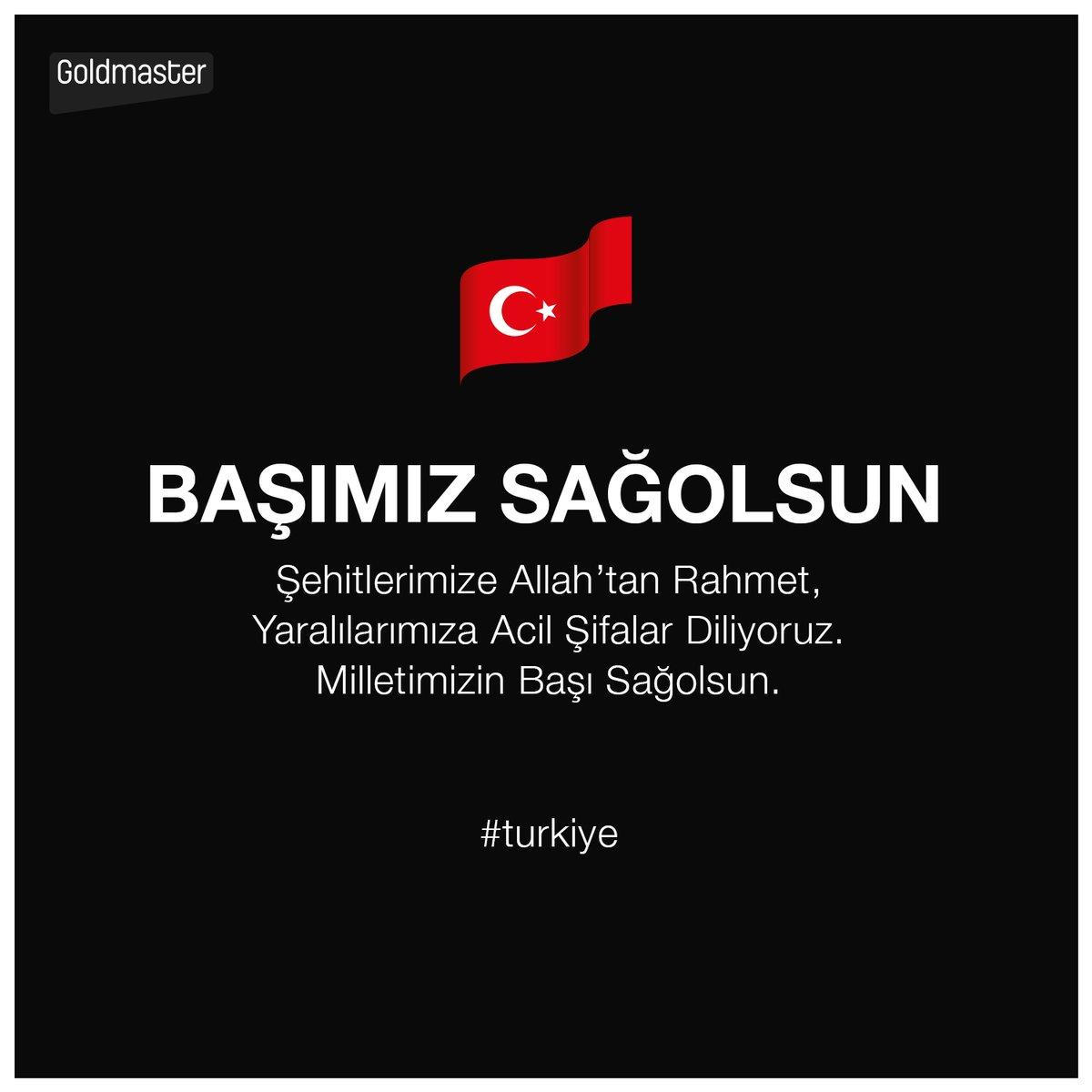 Şehitlerimize Allah'tan Rahmet, Yaralılarımıza Acil Şifalar Diliyoruz. Milletimizin Başı Sağolsun!  #turkiye https://t.co/y06OpzNJus