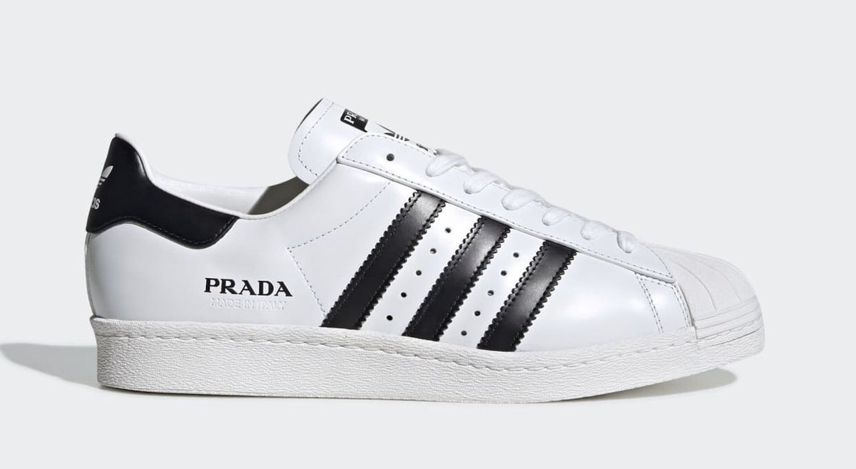 According to @py_leaks, 2 pairs of sneakers are on the way, which is expected to be called the Adidas Prada Sailing. Early look at the new style is currently unavailable but the two styles are slated to feature a white, metallic silver, & red color  scheme. Ea. pair is $350.00 pic.twitter.com/BvvbcyGLsc