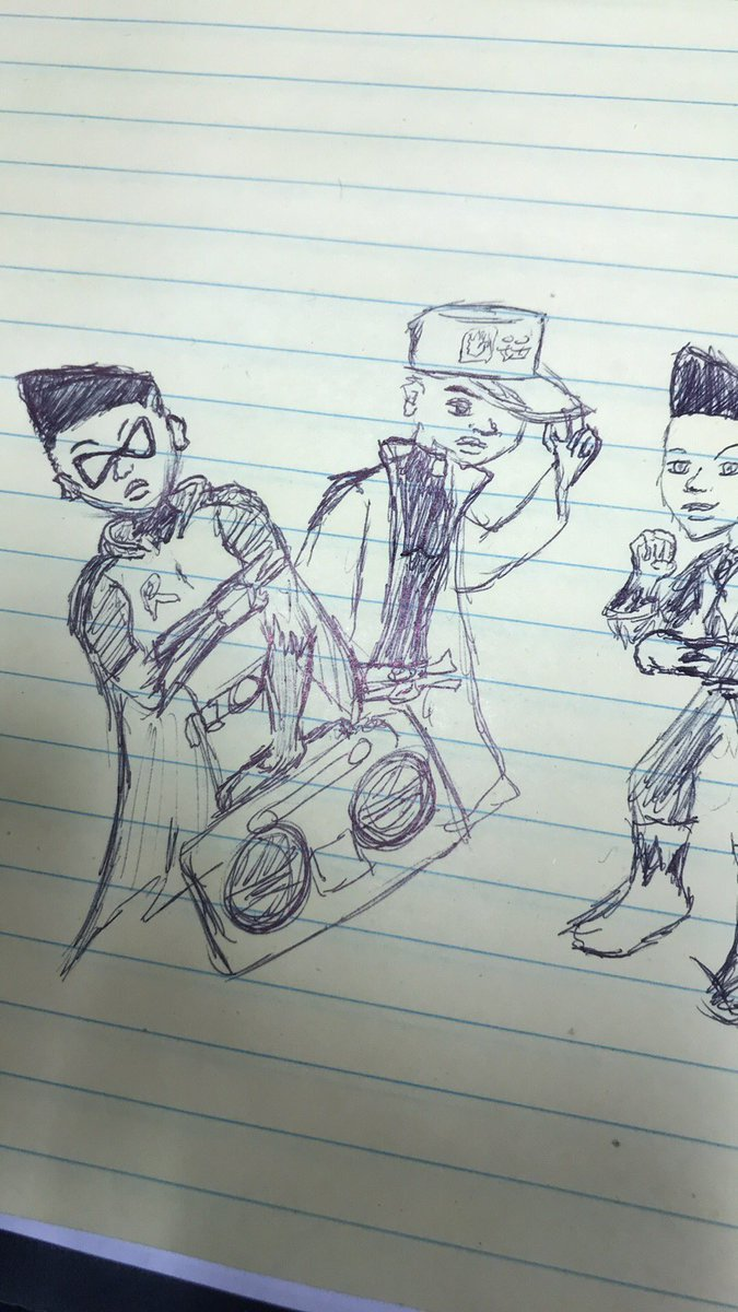 I unintentionally sketched my Blerdcon lineup at work  lol <br>http://pic.twitter.com/A1GSgU0XkB