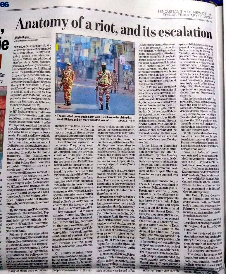 Read this piece by Shishir Gupta of Hindustan Times---- On Feb 23, Soon after pro-CAA rally was organised by BJP leader Kapil Mishra at Maujpur, outsiders started pouring in buses from Uttar Pradesh.