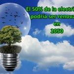 Image for the Tweet beginning: El 50% de la electricidad