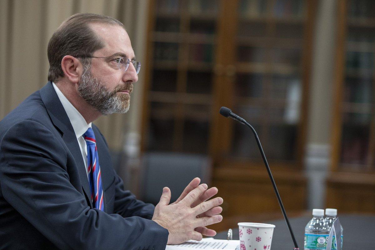 Health secretary Alex Azar won't promise that a coronavirus vaccine would be affordable