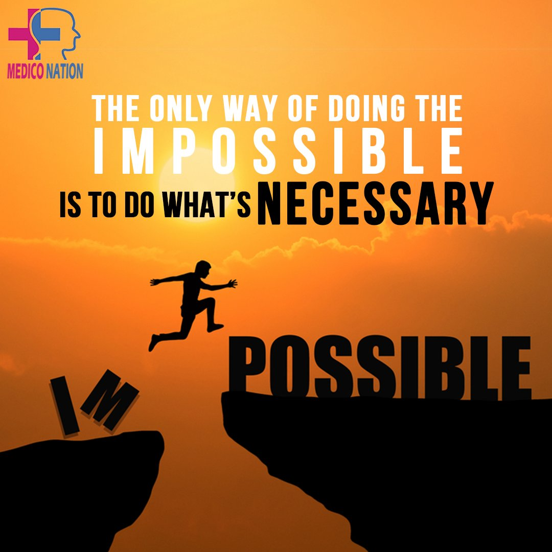 The only way of doing the impossible is to do what's necessary . . . . . . . . . . #exammotivation #medicalstudent #neetmotivation #motivationalquotes #motivationeveryday #motivationforlife #motivationalquotesdaily #motivationiskey  #success #Motivationpic.twitter.com/cyNP6x1BHG