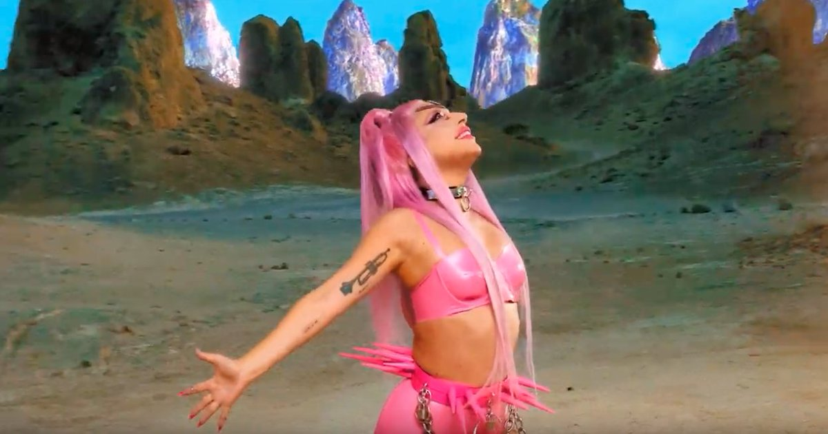 Lady Gaga's 'Stupid Love' video is a joyous alien desert rave epic shot on iPhone 11