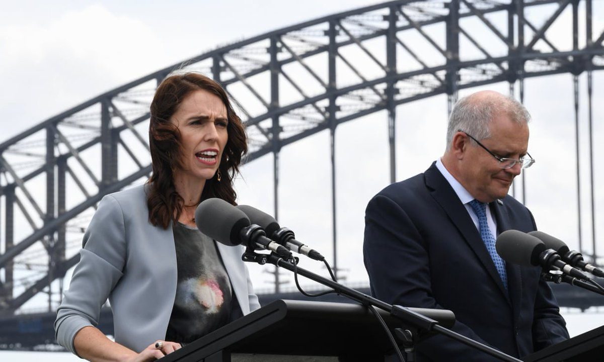 Show some respect!...... scumbag morriscum smirking as Adern is speaking. Caption this #auspol