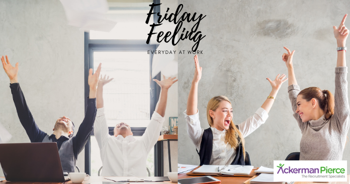 #Happy #Friday Everyone! #Employers are at their happiest on Mondays but #employees are at their happiest on Fridays. Why is that? Let's all bridge the gap and find this sweet #feeling everyday at #work!  #Fridayfeeling #Jobsearch #Jobs #Ackermanpierce