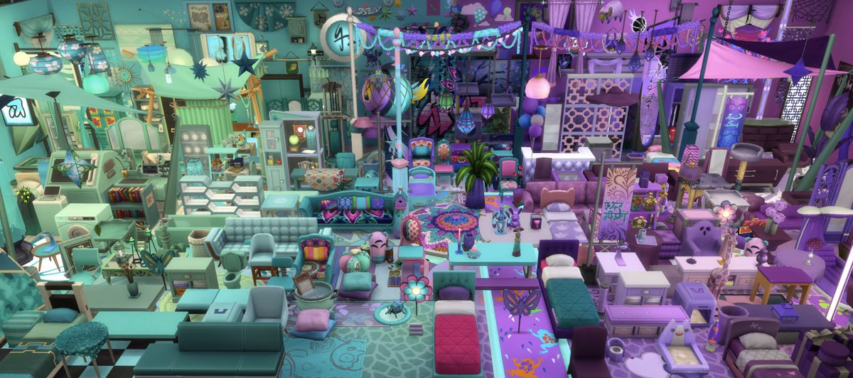 This was very dumb and very fun   #ShowUsYourBuilds #thesims4 #sims4 #thesims #sims #gradient #colorstudy #color #ombre #teal #purple #notsoberrypic.twitter.com/qfCtTgTFPf