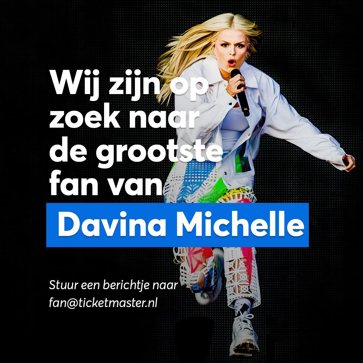 .@DavinaMichelle_ fans opgelet! Wij zijn op zoek naar haar grootste fan. Heb jij haar eerder dan P!nk ontdekt en ga je naar elk optreden? Dan zijn we op zoek naar jou voor een interview.  Mail ons dan op fan@ticketmaster.nl en wie weet nemen we binnenkort contact met je op.pic.twitter.com/XAG9eWkYvR