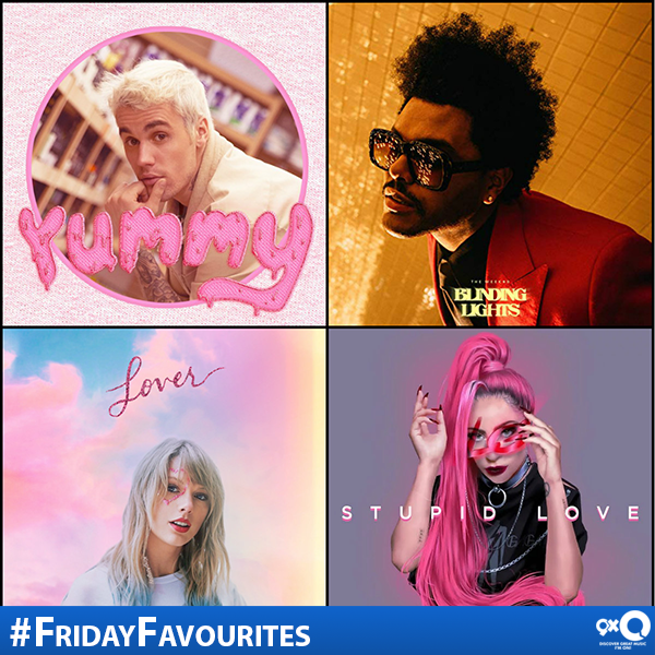 Which of these new tracks are on your #FridayFavourites playlist? #JustinBieber #Yummy #TheWeeknd #BlindingLights #TaylorSwift #Lover #LadyGaga #StupidLove