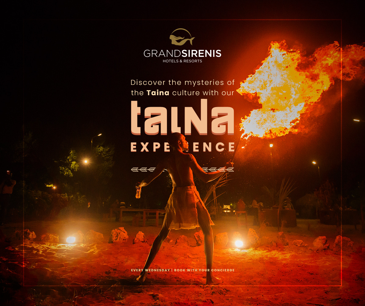 Discover more about the Taina culture through the experiences we offer The Taina Dinner each Tuesday includes a show, a delicious meal and some fascinating history to give you an unrivalled experiencehttp://sirenishotels.site/resort#SirenisExperiences #SirenisMakesItHappen #PuntaCana