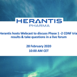 Image for the Tweet beginning: Herantis is hosting a #Webcast