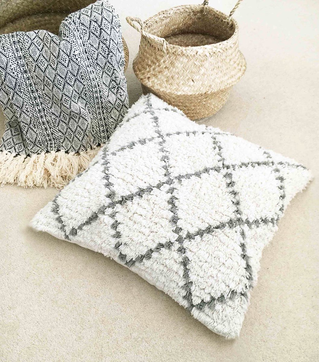 ➕ BACK IN STOCK ➕ Our best-selling and #sustainable natural shaggy Moroccan Berber #cushion and #rug, and leather woven rug [which are also all @GoodWeave certified] are now BACK IN STOCK 🙌🏻 though no doubt, they won't stay around for long!  #homedecor