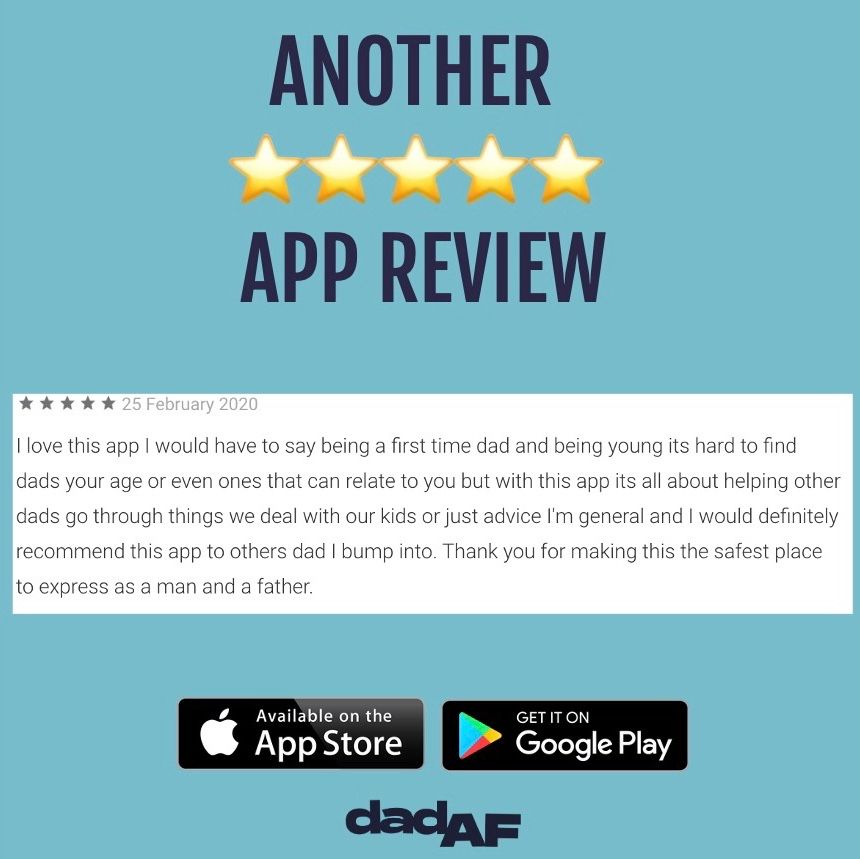 Thank you for another brilliant review ⠀⠀⠀⠀ • Download on App Store and Google Play Store today!⠀⠀⠀ •⠀⠀ •⠀ •⠀ #dad #dadaf #dadlife #app #review #dads #dadyougotthis #advice #guidance #tips #tricks #dadcommunity #dadnetwork #fivestars #mentalhealth #menshealthpic.twitter.com/3b3M0V1TRo