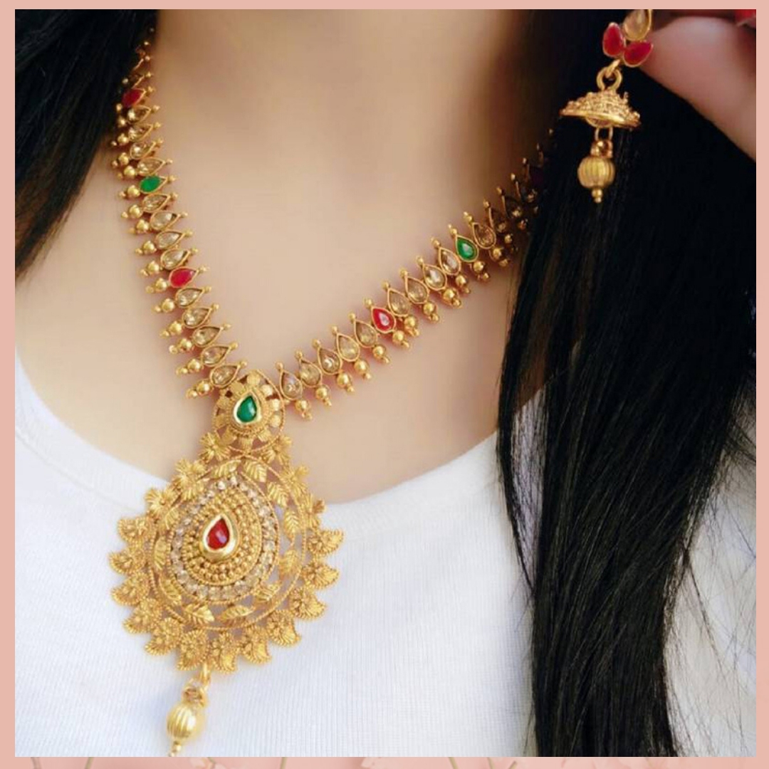 Pair up this beautiful Multicolour Diamond Necklace Set with your lovely Kanchipuram Saree. Shop now and get up to 80% off. Product details & price - http://bit.ly/3c66NlY . . #ClassicSale #RelivIndia #Trendy #NecklaceSet #Jewellery #Mirrawstyle #Ethnicwear #Mirrawpic.twitter.com/pAeXBuIzFy