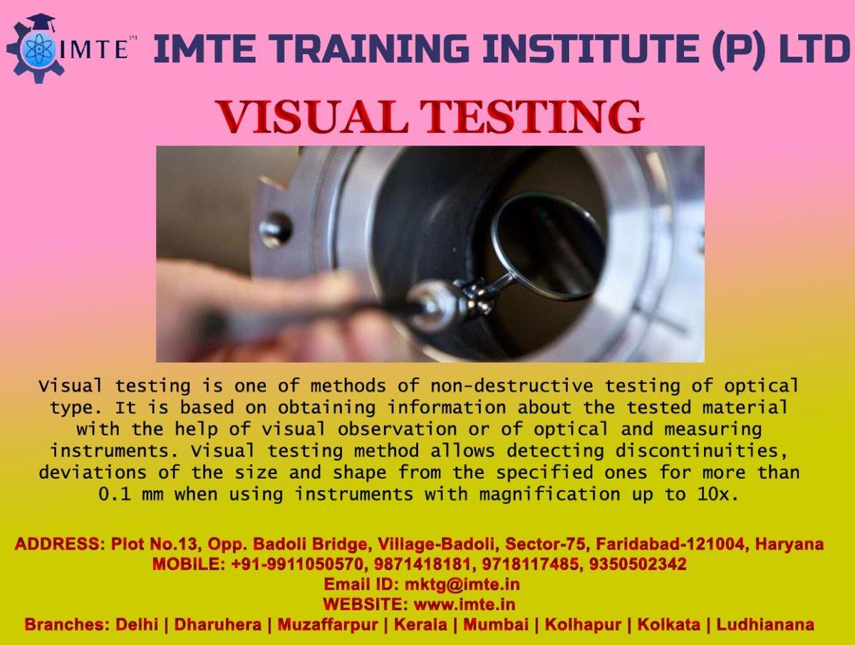 Visit: https://imte.in/ Linkedin: https://www.linkedin.com/company/31131730/admin/… Facebook: https://www.facebook.com/IMTE-Training-Institute-112169803625503/?modal=admin_todo_tour… #visualtesting #visual #testing #imte #institute #training #education #knowledge #follow #delhincr #faridabad #haryana #india #nondestructivetesting #nondestructive #destructivepic.twitter.com/gEJ7NeGKCB