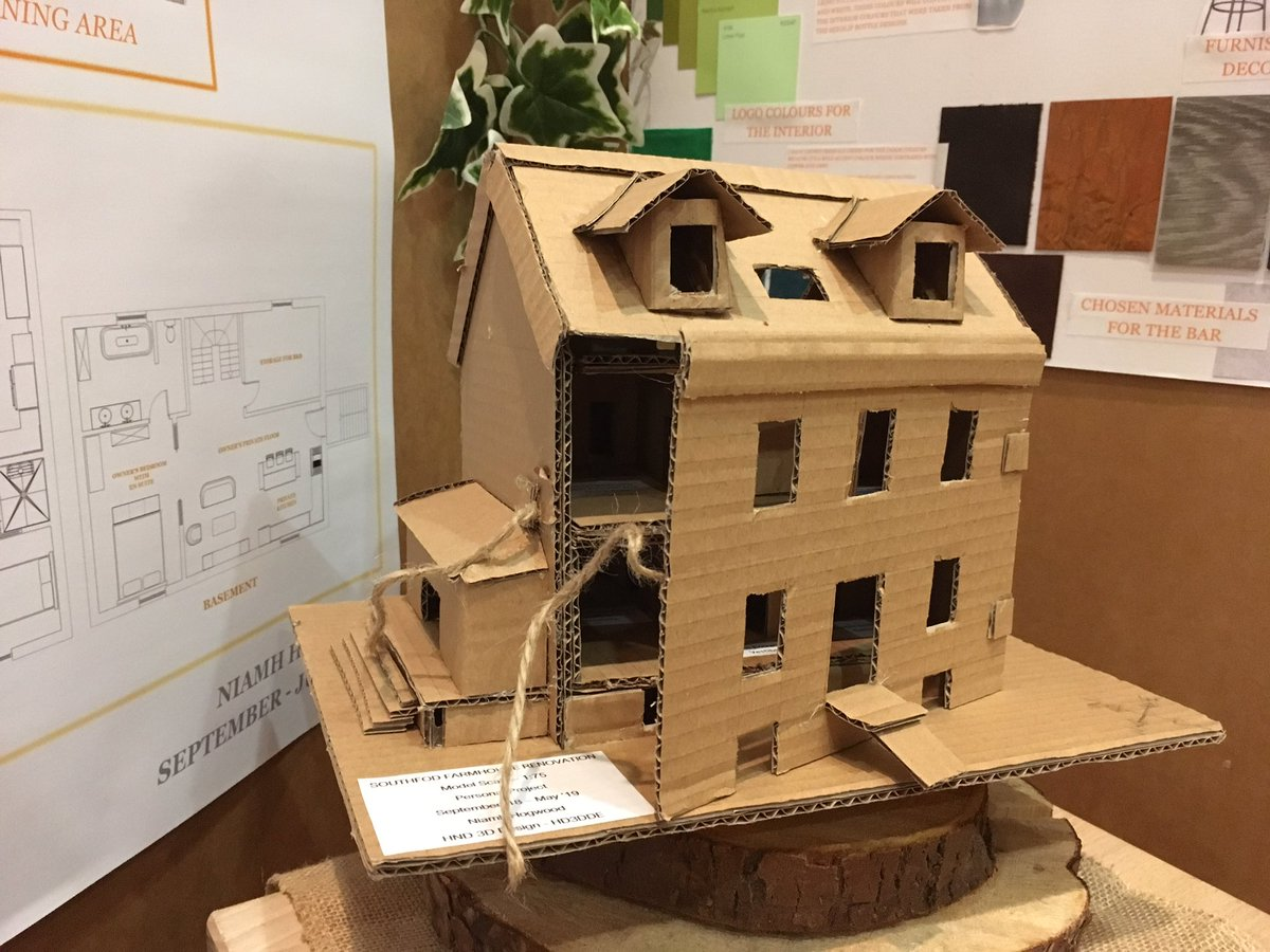 One thing that @fifecollege has taught me, is that we need to teach traditional skills but to mix this with newer technology. Our @BuiltFife students get the chance to learn model making using card, but also using CAD, turning into 3d printed models. #modelmaking #3ddesign