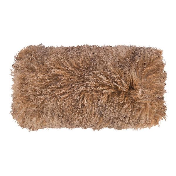 Sunset Tibetan Sheepskin #Cushion from @AmaraLiving affiliate partner
