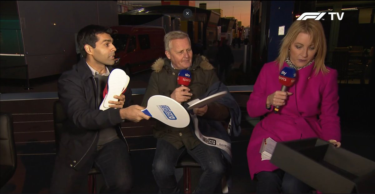 It might only be @F1 Winter Testing, but @SkySportsF1, @RachelBrookesTV, @karunchandhok and @johnnyherbertf1 definitely look ready for the #SummerRace☀️🌴! It seems they enjoyed our SummerBox yesterday!  #F1 #F1Testing #Motorsport #FrenchGP #GPFranceF1 #SummerBox