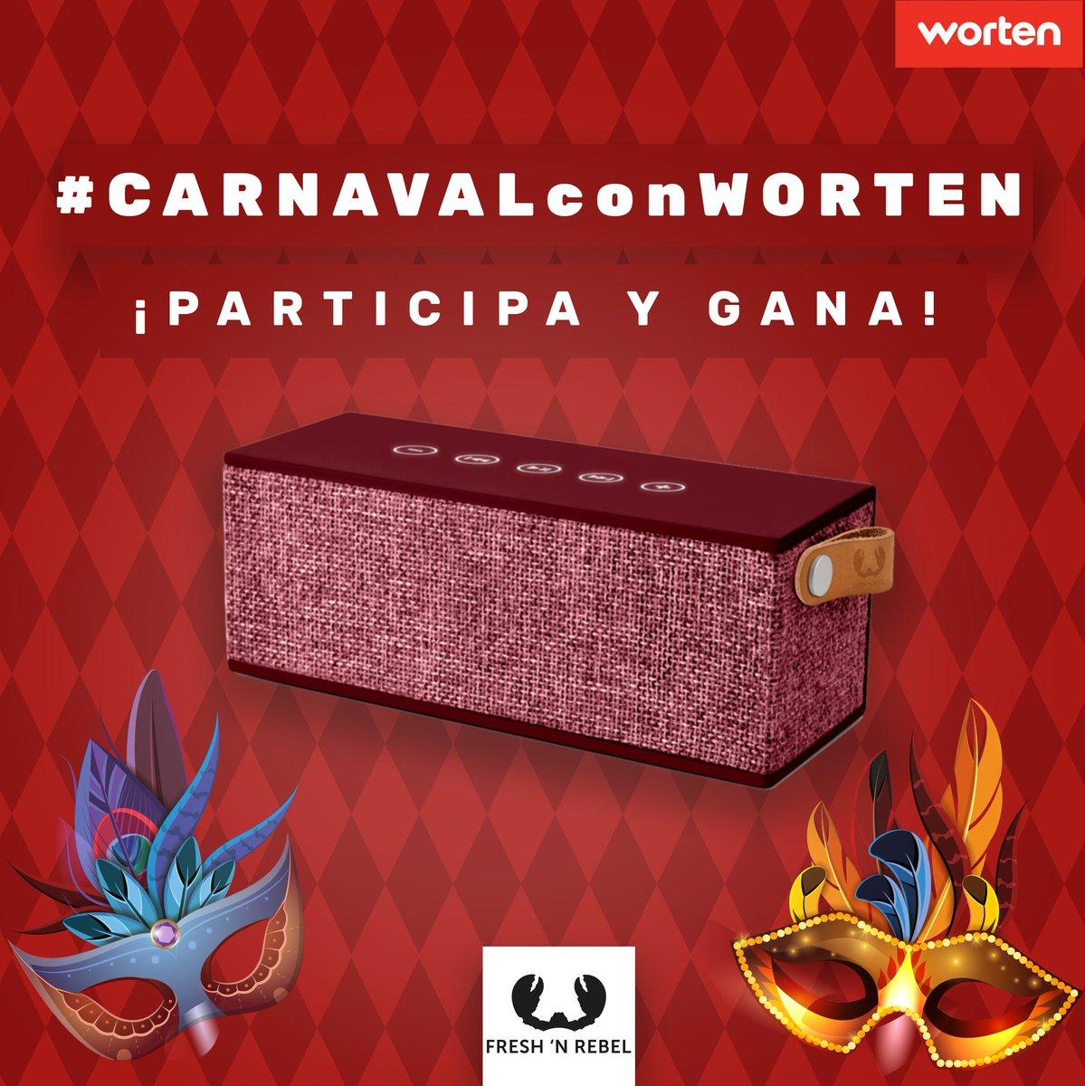 ¡Que ya queda poco para acabar el #Carnaval! Y queremos sortear un súper altavoz #bluetooth entre los que...👉Nos digan junto a #CarnavalconWorten cuál cree que será el disfraz estrella👉Etiquete a dos amigos#FelizMiércoles #MiércolesdeCeniza #Cuaresma #DonCarnal