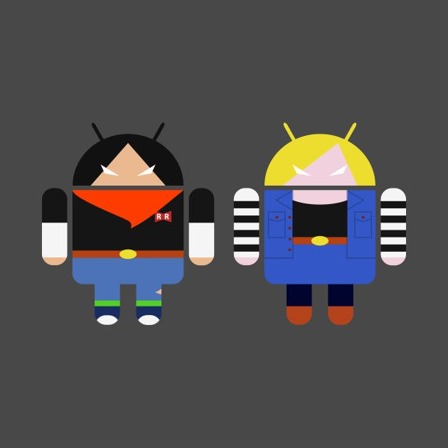 #Android17 & #Android18 Tees @Teepublic by #Prometheus31 #dragonballz #dbz #android #mashup #c17 #c18 #redribbon #goku #twins #brother #sister #cyborg #robot   #tshirt #tee #iphonecase #iphone #cases #notebook #print #dragonball IG @prometheus_31