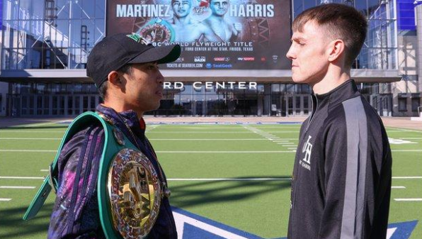 "Eddie Hearn says Welsh boxer Jay Harris deserves his world title shot, but warns he could be in for ""a treacherous night."" The undefeated fighter from faces WBC world flyweight champion Julio Cesar Martinez. More here ➡️http://bbc.in/32BiY5O"