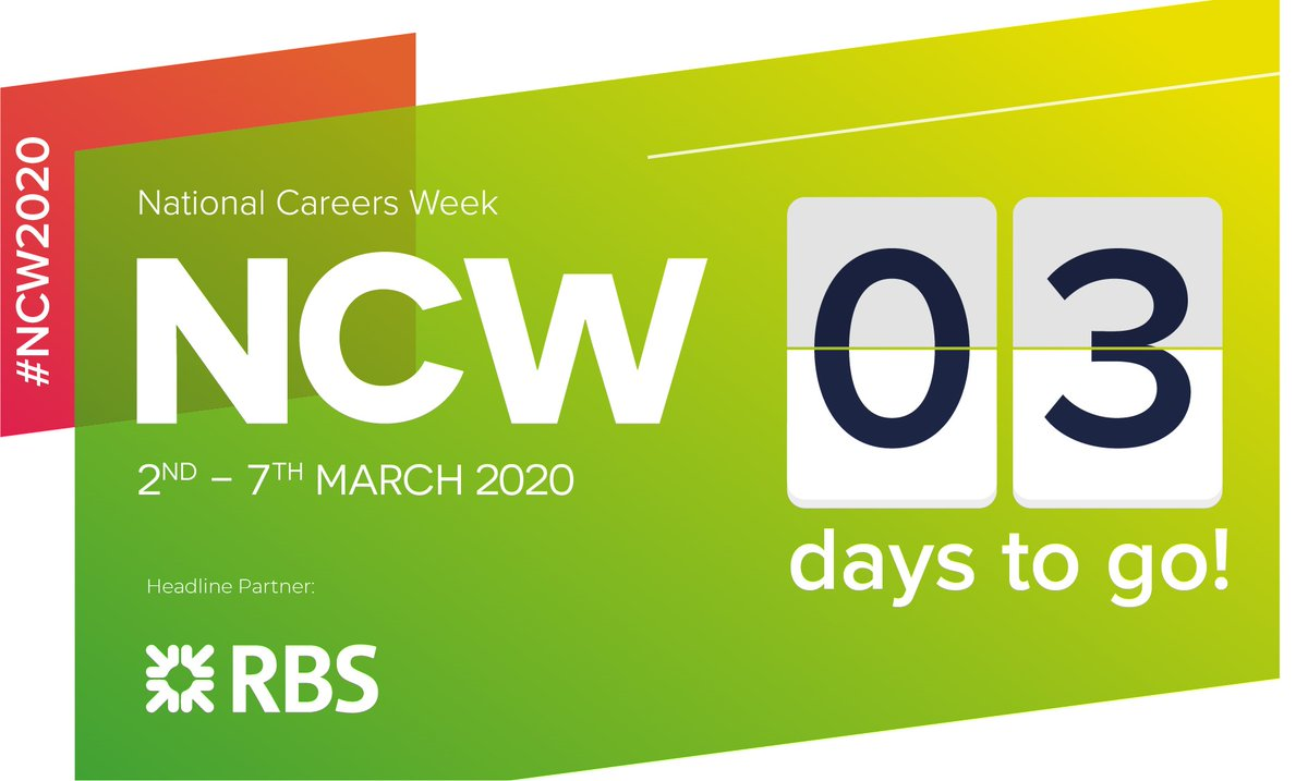 Only 3 days left until #NationalCareersWeek2020<br>http://pic.twitter.com/6NBZeHsCps