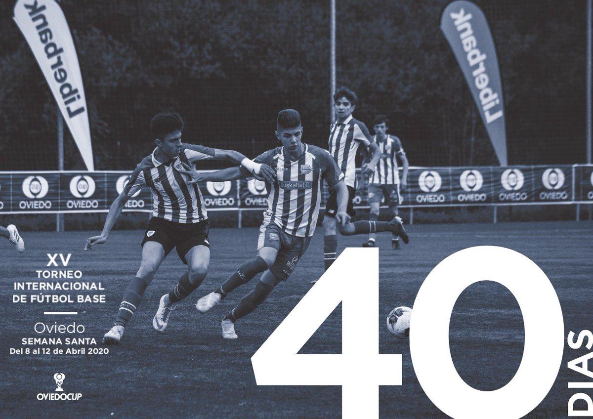 Oviedo Cup, mucho más que un torneo. Un campeonato que trasciende de lo deportivo. Una fiesta del fútbol en el mejor entorno.   Y ya queda muy poco: 40 días, ¿estás preparado?    ¡Nosotros SÍ!  #40DÍAS #TorneoInternacional #FútboBase #OviedoCup #XVEdición #SemanaSantapic.twitter.com/0L0LEGlvSs