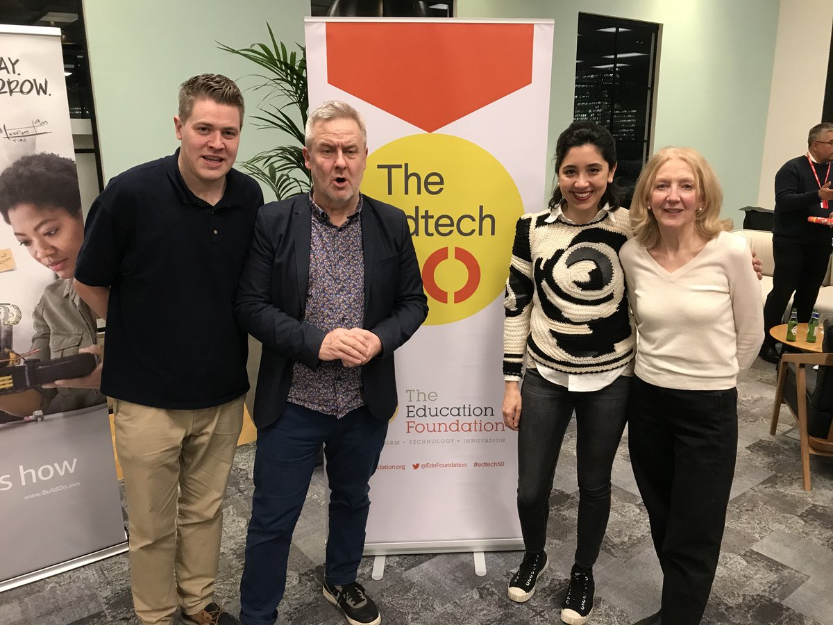 Such an honour to be among our wonderful peers in the #Edtech50 and to have received 'very many public nominations'. Thank you to our lovely customers and to the amazing @ty_goddard who works tirelessly to support and promote the #edtech sector! https://t.co/uEmxGebi8c