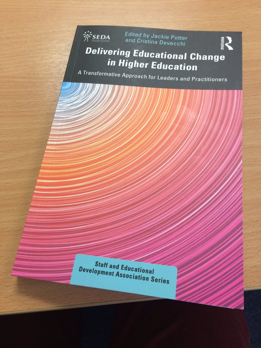 Great to receive this in the post today and chuffed to have a chapter included outlining our innovative approach to educational development @GlyndwrUni Shout out to our amazing network of Academic Development Team Associates! #highereducation #leadership #change