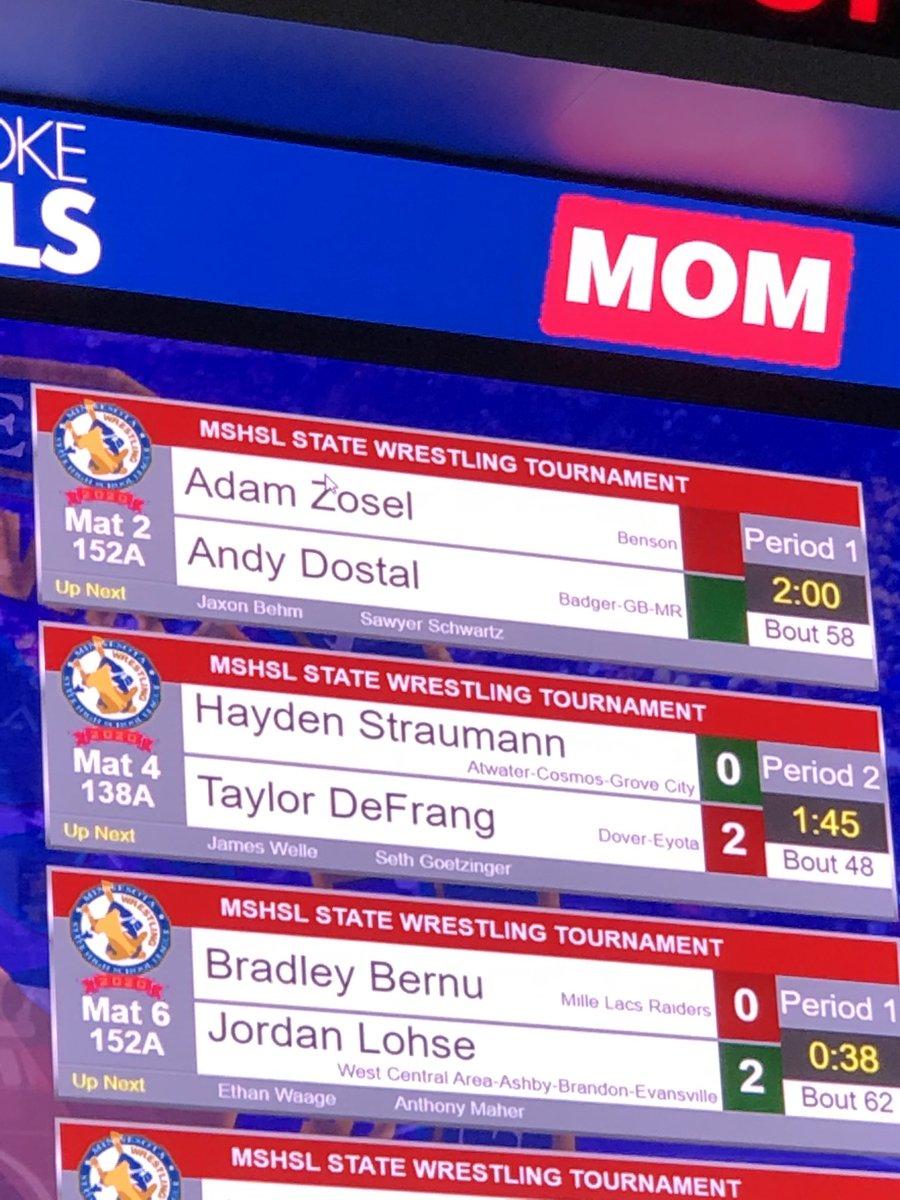 Zosel drops first match 11-4 #GoBraves pic.twitter.com/Rf5dvUHu3E