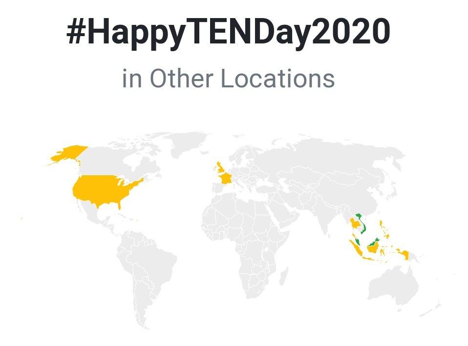 2020-02-27  HIGHTEST RANK #HappyTENDay2020  Seen in 10 countries Malaysia #1 Philippines #3 Singapore #4 Indonesia #5 Vietnam #8 Puerto Rico #9 Thailand #21 France #26 United States #30 United Kingdom #41  #TEN_Charts #WayV #威神V #SuperM #TEN #TenChittaphon #李永钦 #텐  #เตนล์<br>http://pic.twitter.com/m2v86weGr0