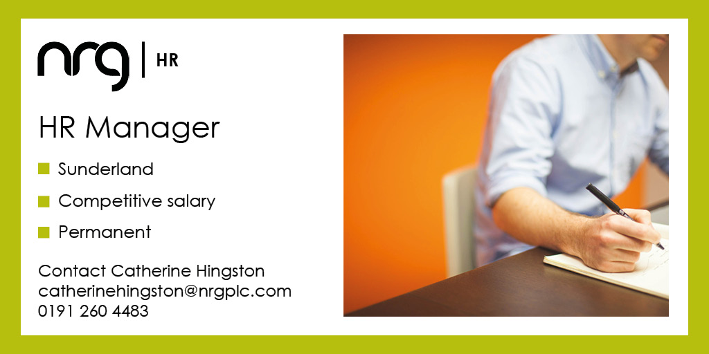 Due to significant growth, our client based in #Sunderland has an exciting opportunity for a #HRManager to join the business. The role will involve both operational and strategic #HR. You will have a #CIPD level 5. Details >  #NRGHR
