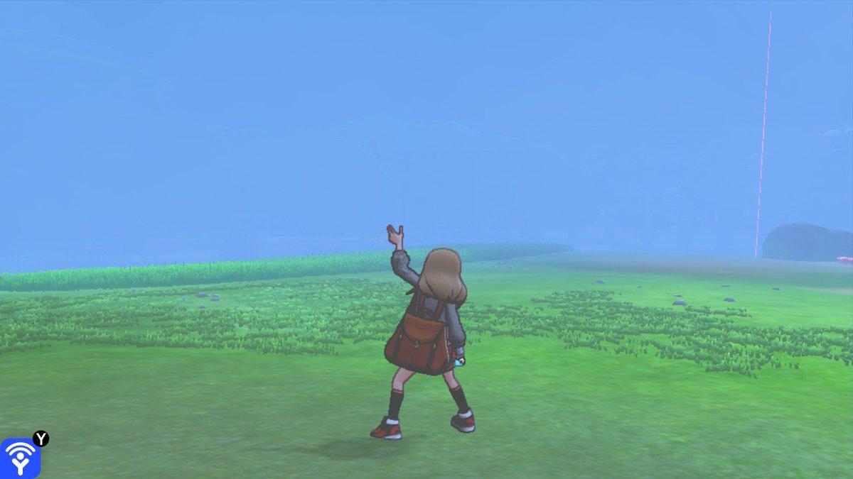 【ポケモン剣盾】今年はうるう年で、本日2/29は「うるう日」です。2月29日は全てのワイルドエリアで「天候:霧」となっていますのでお知らせします。(何も見えない)#ポケモン剣盾