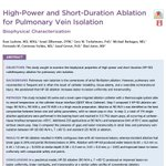 Image for the Tweet beginning: 2) High-Power and Short-Duration Ablation