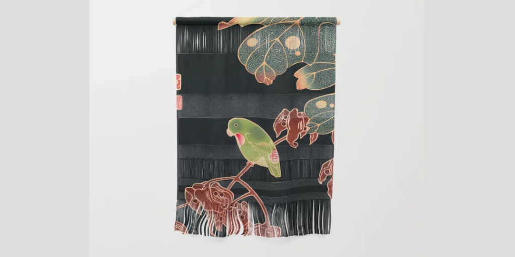Exotic Japanese wall hanging!  #wallart #wallhanging #wallhangings #homedecor #home #decor #interior #design #buy #shop #bird #cute #jungle #exotic #FridayFeeling #FridayThoughts #FridayVibes #japan #parakeet #parrot #plants #elegant #cool #musthave  Link: https://society6.com/product/the-paroquet-by-ito-jakuchu-japanese-vintage-woodblock-painting_wall-hanging?sku=s6-11454220p74a221v774…pic.twitter.com/v84LSUOI2Z