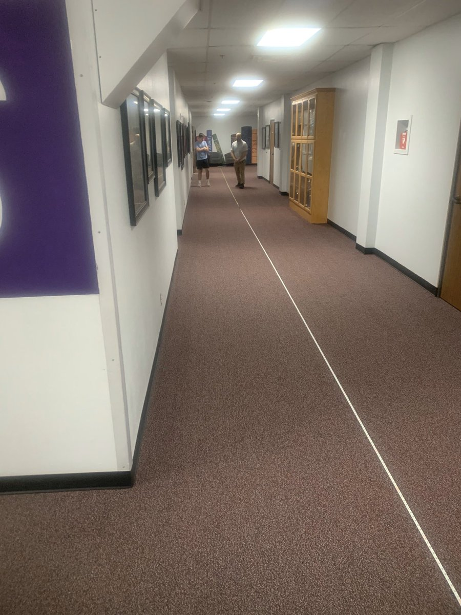 When you coach track at a school without a track, sometimes you teach long jump in a carpeted hallway   @Trace54791674pic.twitter.com/iJhdhJH4GM