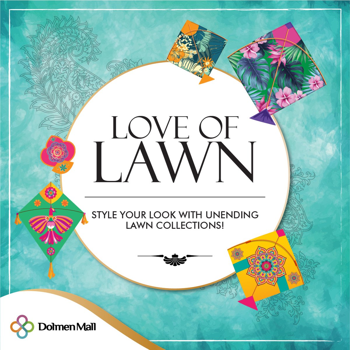 The Love of Lawn at Dolmen Malls is at all-time high. With the latest Lawn collections launching at all your favourite brands, rush to the mall to get your hands on the trendiest designs, cuts, and colours!  #LoveOfLawn #GrandLawnFiesta #Lawn #Spring #Summer #NewCollection