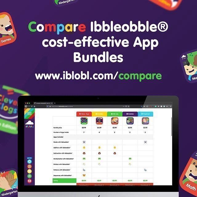 #Compare #Ibbleobble® cost-effective #App Bundles . Not sure which educational #App #Bundle is for you? Maybe our comparison chart will help :)👉http://www.iblobl.com/compare   #Maths #Math #ThursdayThoughts #ThursdayMotivation #ThursdayMorning