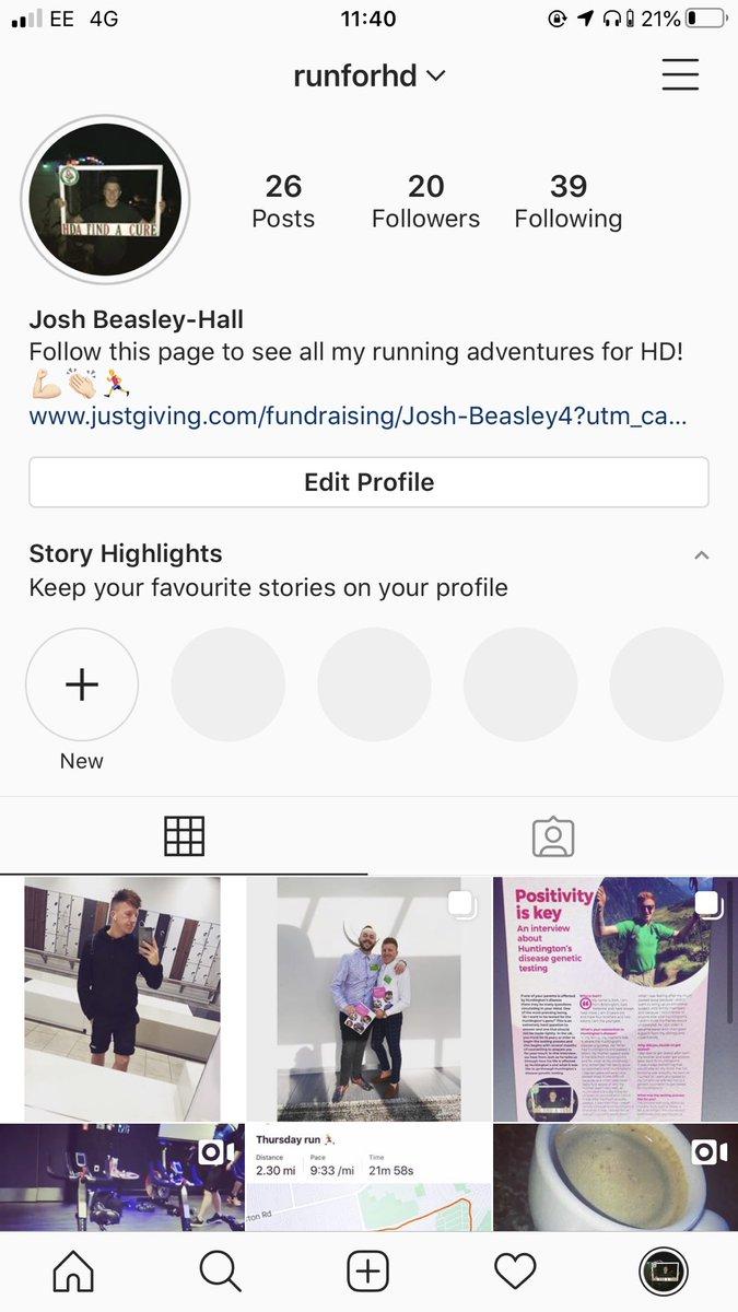 Follow my HD Instagram page for all my half marathon training and fundraising adventures!  #RunForHD @HDA_tweeting<br>http://pic.twitter.com/v08SuqXMp0