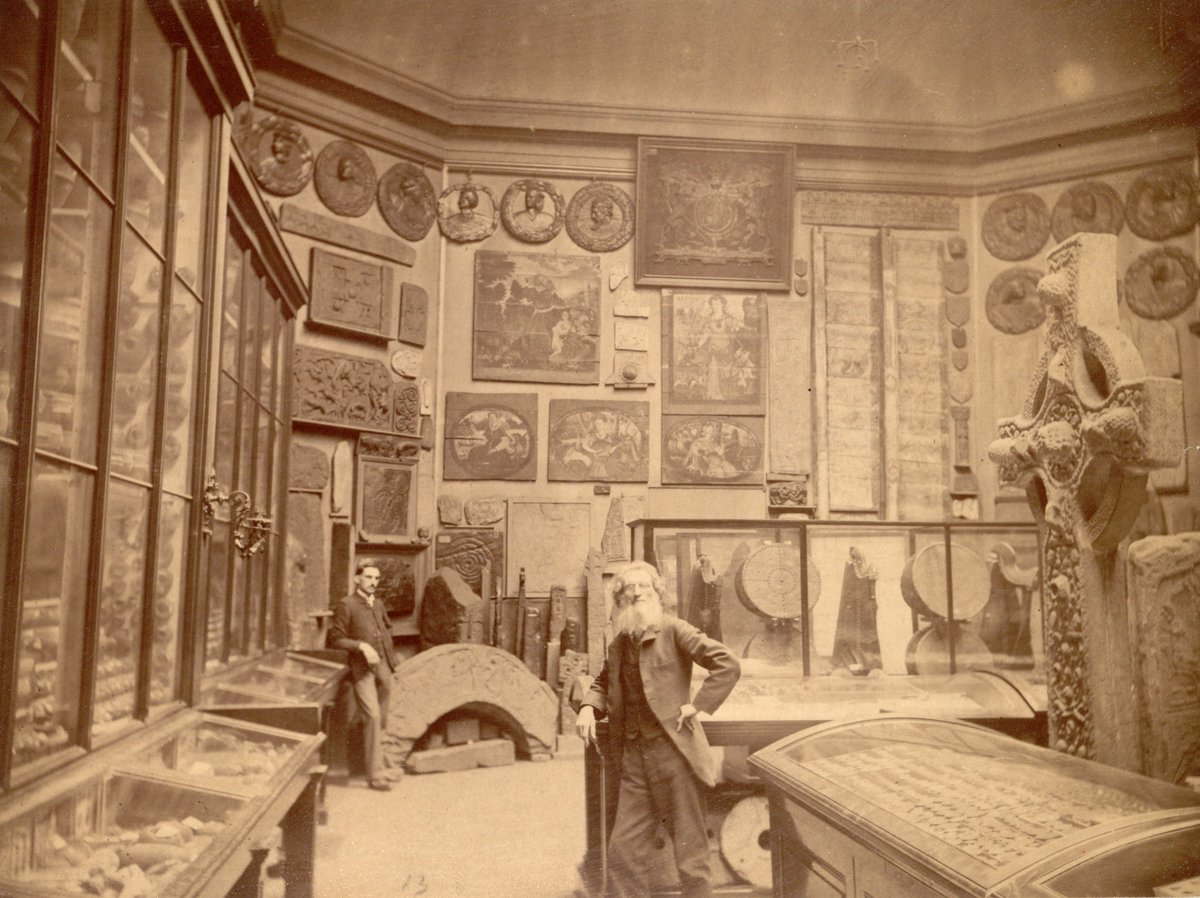 For #ScottishArchivesDay we will start with a photograph of our museum collections, displayed in the Museum of Antiquities in 1890. You can still see some of these artefacts on display in @NtlMuseumsScot today!<br>http://pic.twitter.com/OrzVEmjcar