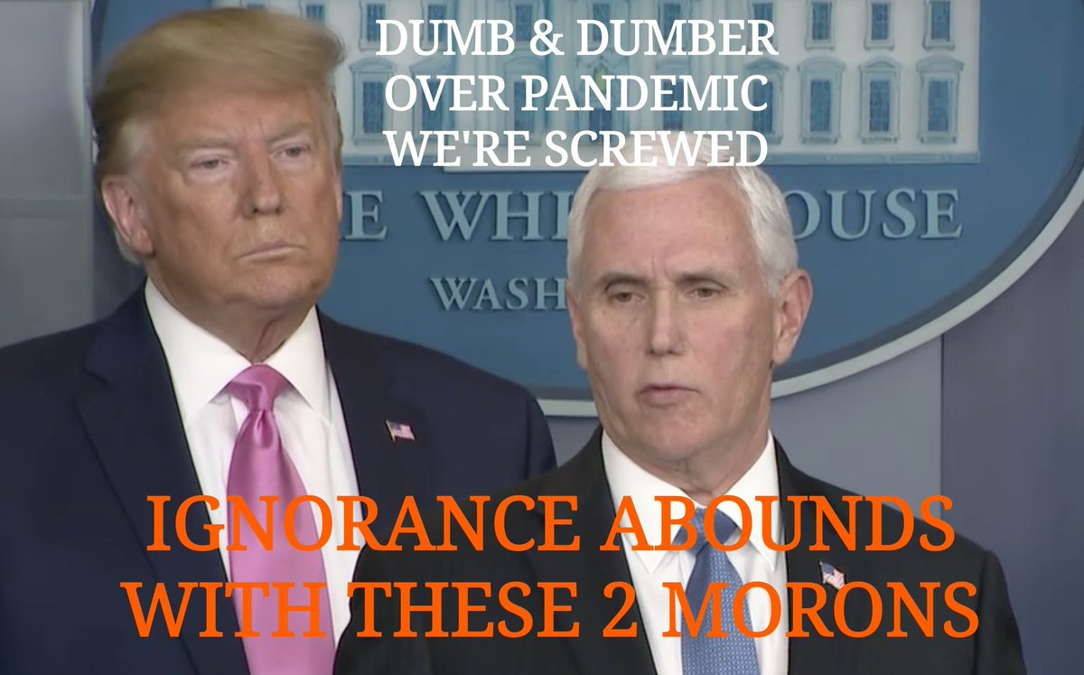 @realDonaldTrump @VP @MSNBC @Morning_Joe HEY, IT'S THE REPUBLICAN WAY. Face It, WE'RE SCREWED. In Donnie's terms, it will be like a miracle & The Virus will just disappear. America couldn't get SO LUCKY FOR THESE TWO Bastions of Ignorancepic.twitter.com/wFpW0RFDe3