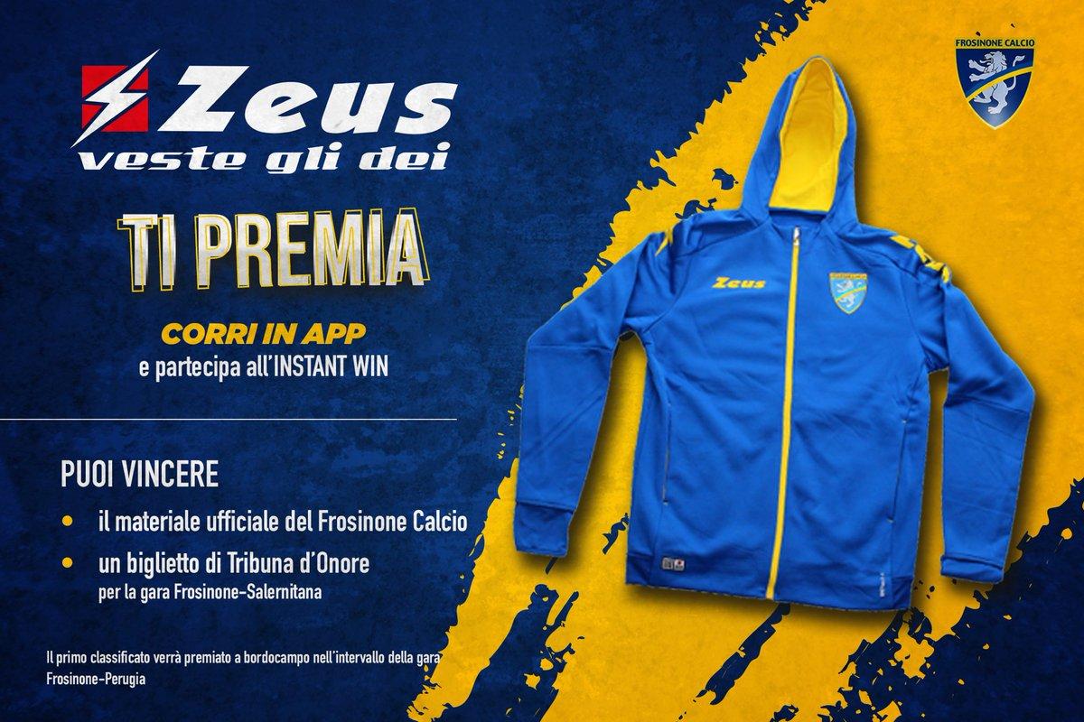 @zeus_sport ti premia!   Il primo classificato potrà vincere un prodotto ufficiale del Frosinone Calcio e un biglietto per #FROSAL   in app e partecipa all'Instant Win!   Hai tempo fino alle 19:00!  Riservato ai MEMBER EXCLUSIVE!  http://goo.gl/HKttFypic.twitter.com/KLMqzw9P6z