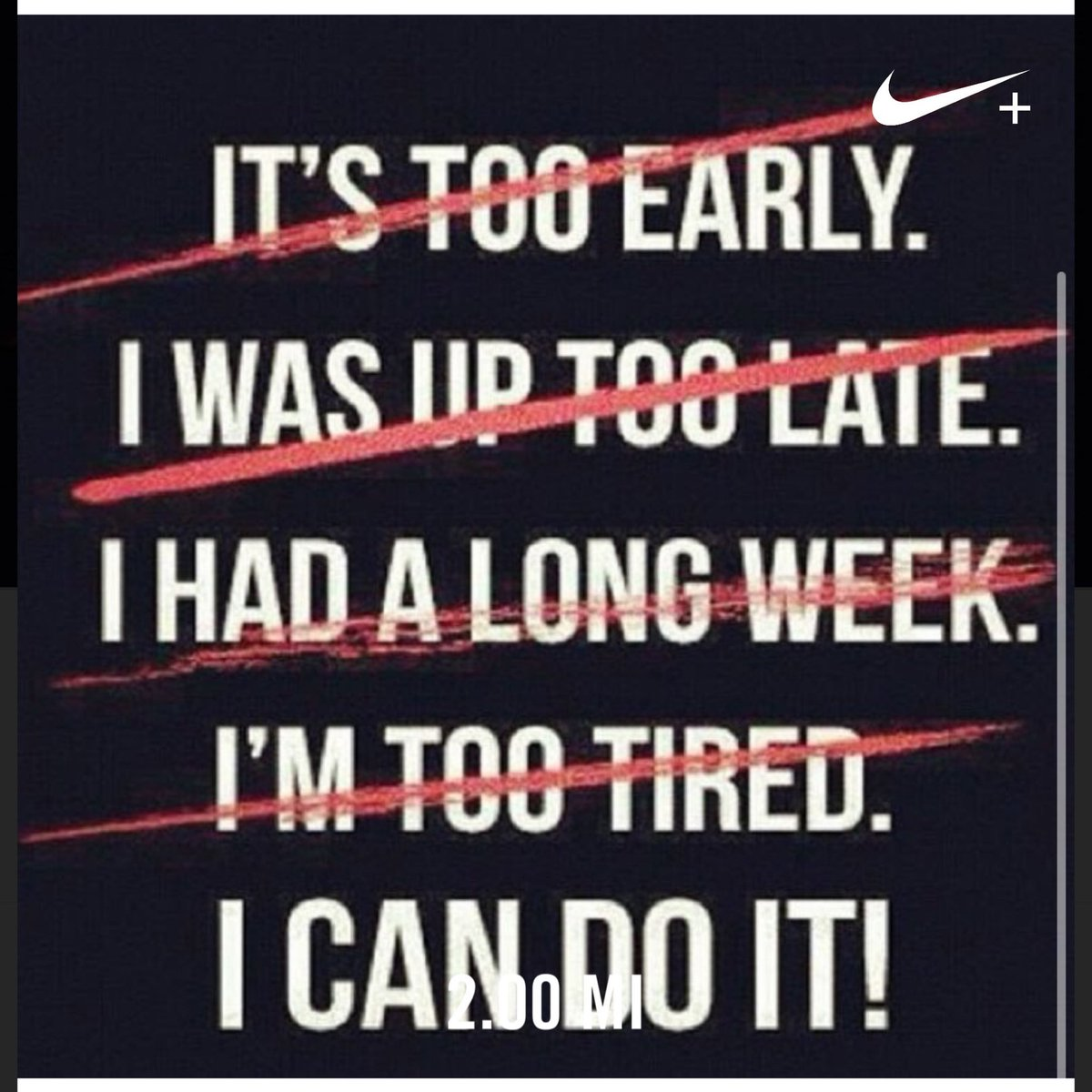 5 am weekday workouts month 2 complete. 45 min boot camp with 2 mile run complete. Ran 2.00 miles with Nike Run Club #noexcuses #joy #oklahoma #running #fitness #nikerunning #first90days #intentions #instarunner #girlwashyourface #girlstopapologizing #5tothrivepic.twitter.com/8KIIpR0QH2