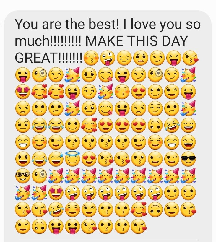 How can you not have a gr8 Friday w/ a text like this from your 7 year old daughter?😎 (via mommy's phone)